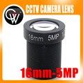"""10 pçs/lote HD 5mp lente cctv IR lente de 16mm Bordo 1/2. 5 """"M12x0.5 vista 50 m para Câmera de segurança IP"""