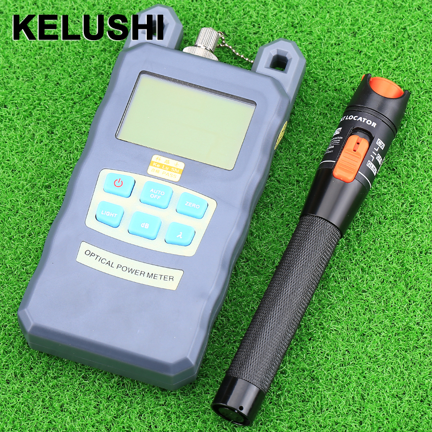 KELUSHI Fiber Optical Power Meter Cable Tester FC/SC connectors -70~+10dBm and 10mw 10KM Fiber Cable Tester Visual Fault Locator
