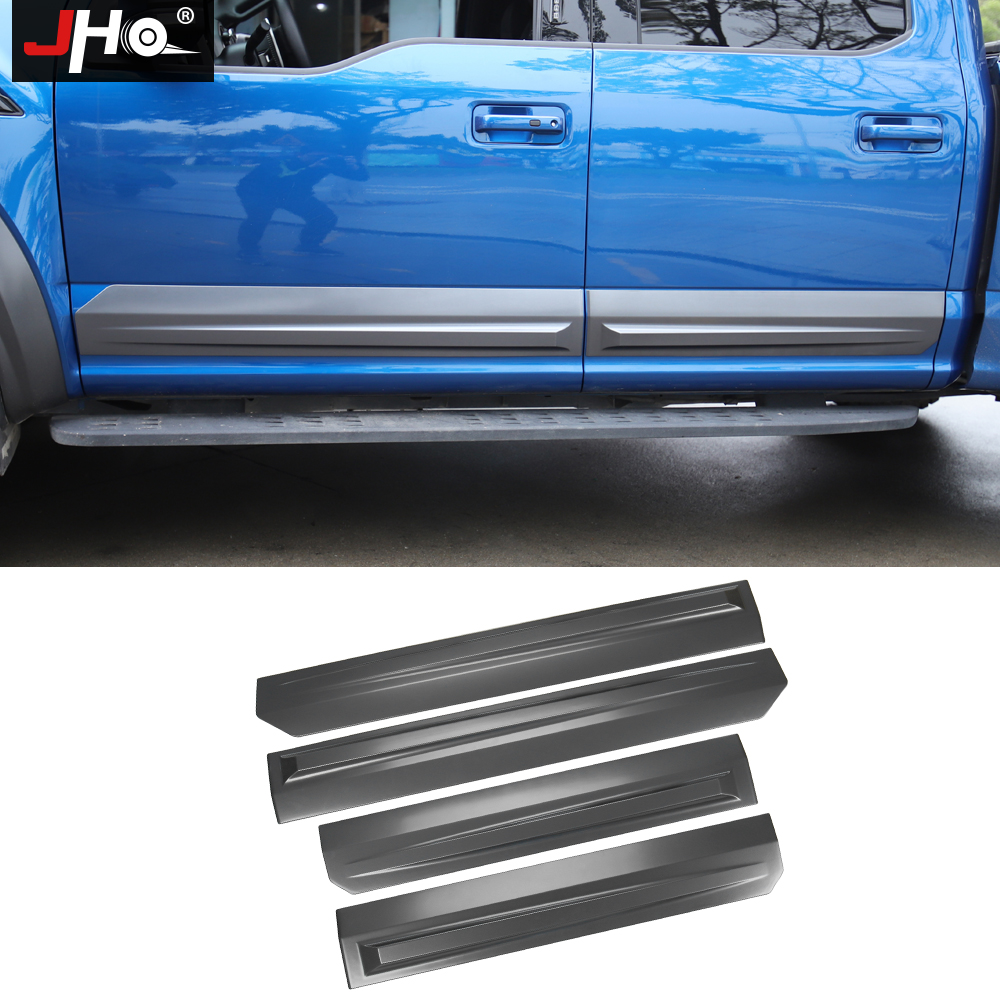 JHO Truck Door Anti scratch Panel Cover Trim For 4 Door Ford F150 2017 2019 Raptor 2018 Pickup Styling Protective AccessoriesStyling Mouldings   -