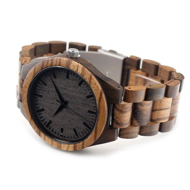 Men's Zabra Style Wooden Watches