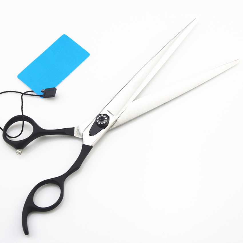 Top quality professional 440c 8 inch dog grooming hair scissors pet shears cutting barber clipper tools hairdressing scissors custom high quality 440c 8 inch pet dog grooming hair scissors animals cutting barber scissor shears tools hairdressing scissors