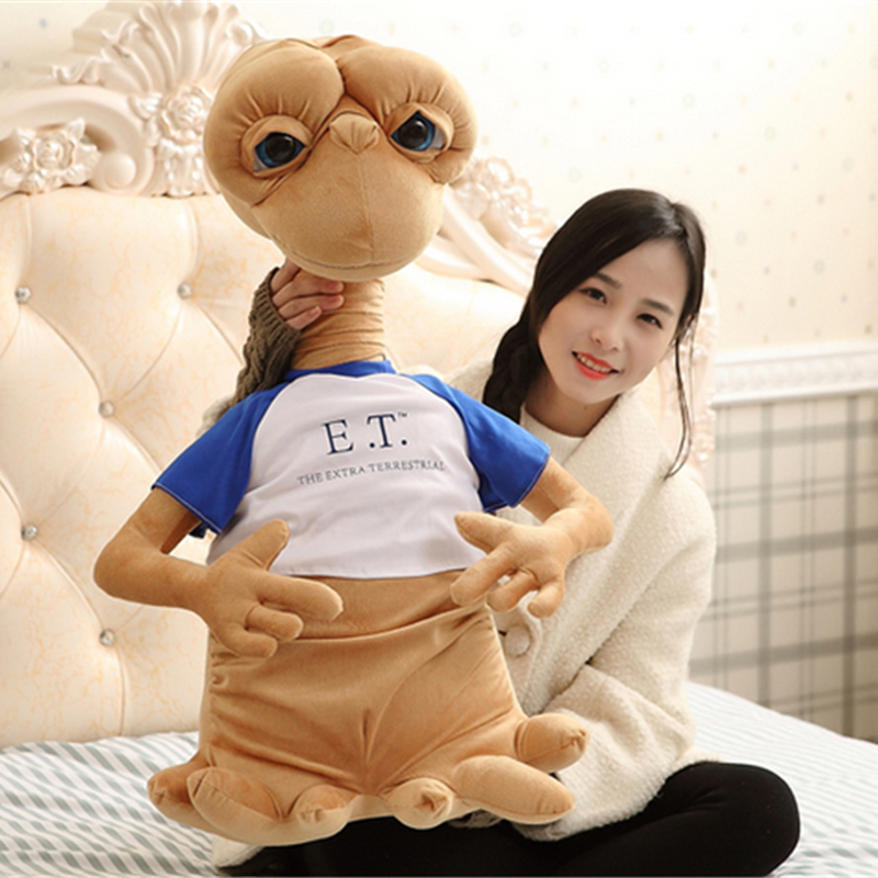Fancytrader Pop Anime Alien Plush Toys Giant 70cm Stuffed Soft ET Doll with Shirt for Children Gifts
