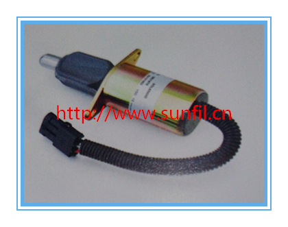 Wholesale fuel shutdown solenoid 3921978 shut off solenoid 6CT/6CTA , 24V+fast free shipping 3924450 2001es 12 fuel shutdown solenoid valve for cummins hitachi