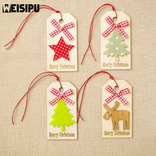Christmas Wooden Crafts Creative Sign Ornaments Tree Decoration