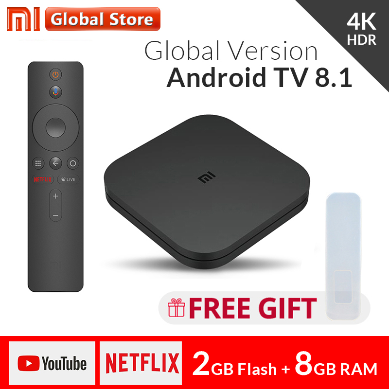 Original Global Xiaomi Mi TV Box S 4K HDR Android 8 1 Ultra HD 2G 8G