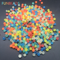 50g/lot Funbeads 3-3.5mm Glowing In The Dark Crystal Soil Mud Water Beads Growing Up Water Ball Home Decor SJ-yg