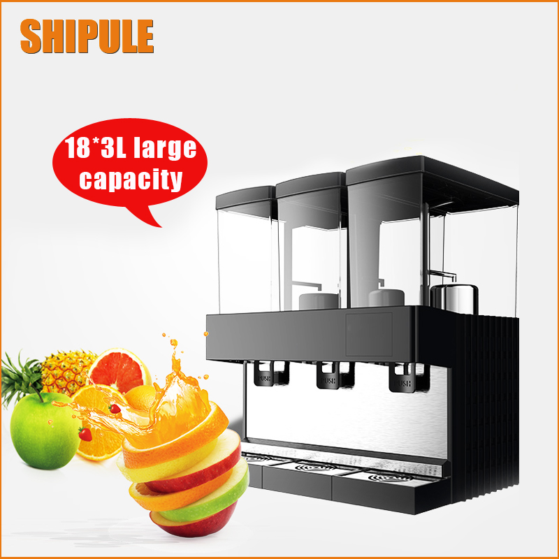 SHIPULE Hot type triple cylinder slush machine cold drink machine,fruit juice dispenser beverage Cool beverage maker