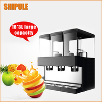 SHIPULE Hot Type Triple Cylinder Slush Machine Cold Drink Machine Fruit Juice Dispenser Beverage Cool Beverage