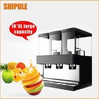 SHIPULE Hot type triple cylinder slush machine cold drink machine,fruit juice dispenser beverage Cool beverage maker