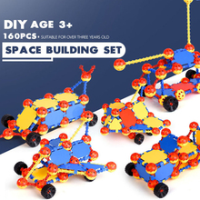DIY Puzzles Assembled Space Ball Spell Inserted Blocks Baby Intellectual Early Education Children's Toys Gifts space puzzles