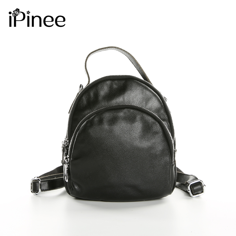 e20d370cbc88 US $34.08 46% OFF|iPinee New 2019 Multifunctional Female Shoulder Bags  Genuine Leather Backpacks Small Cowhide Bags For Women-in Backpacks from ...