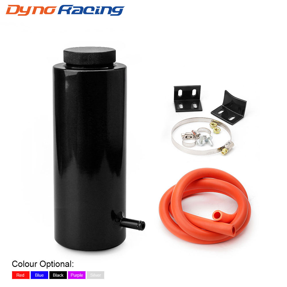 US $8 19 9% OFF|800ML Cylinder Radiator Overflow Reservoir Coolant Tank  Universal Can Black Blue Red Purple Silver YC101142-in Fuel Tanks from