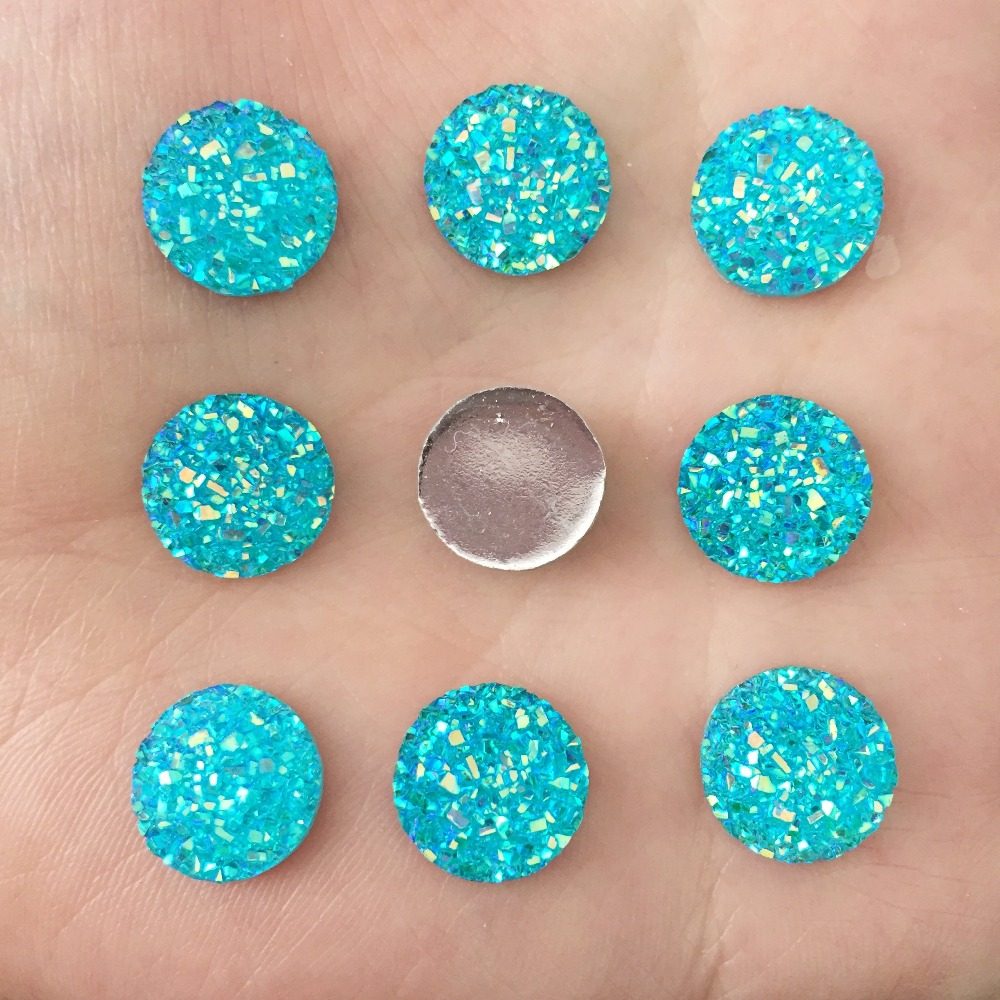 HOT 250PCS 14mm mineral surface flatback ROUND resin DIY craft buttons Home decoration K086*10