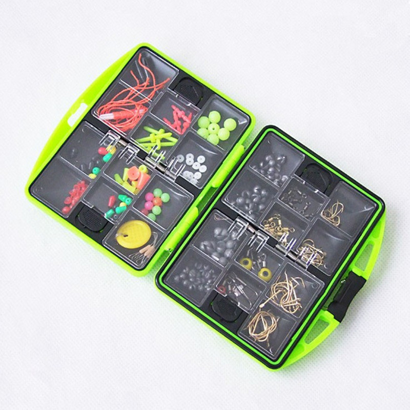 Ocean Rock Fishing Accessories Kit Tackle Tools <font><b>Box</b></font> Case Packing Parts Fishhook Space Beans Rolling Rings