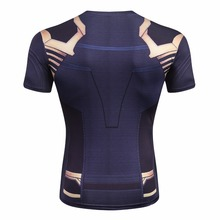 Avengers 3 Short Sleeve Compression Shirts, Thanos 3D Printed T-Shirts
