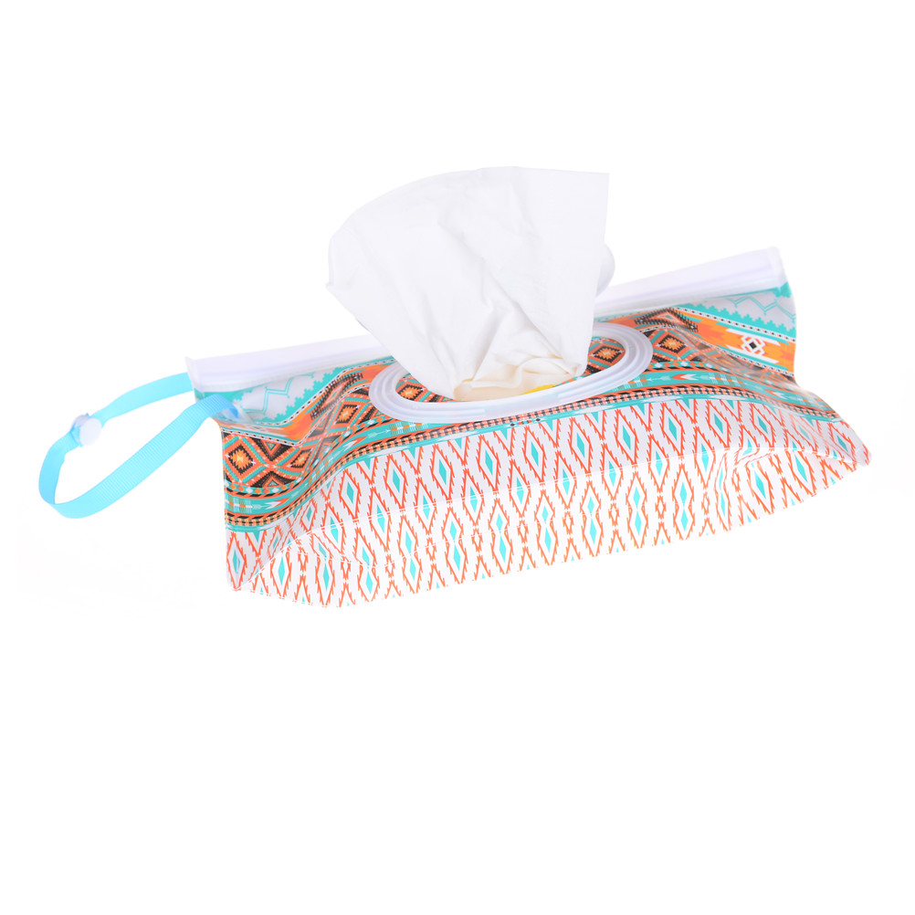 Humorous Clutch And Clean Wipes Carrying Case Wet Wipes Bag Clamshell Cosmetic Pouch Easy-carry Snap-strap Wipes Container Eco-friendly Mother & Kids