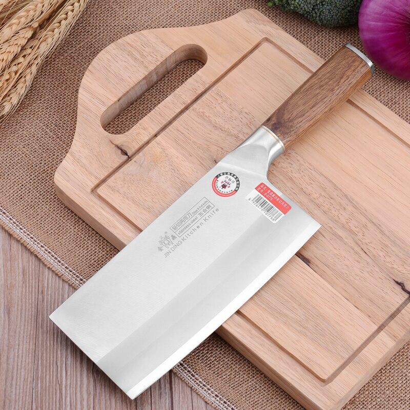 Livraison Gratuite JIN DING Chef Professionnel Préciser De Coupe Couteau de Cuisine Chop Os et Couper La Viande à Double usage Couteau de Cuisson Cleaver Couteaux