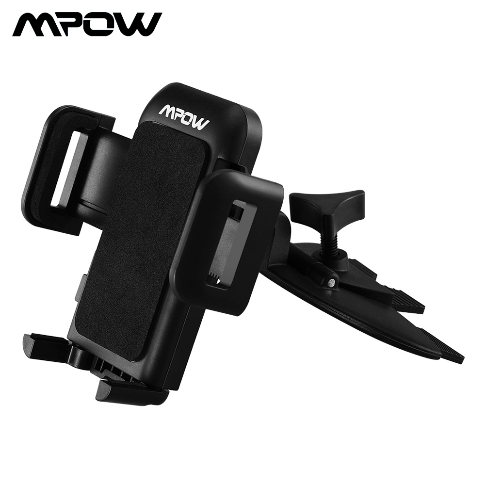 Mpow MCM3 CD Slot Car Phone Holder 360 Rotation Car Mount Holder Stand For IPhone X/ XR/ 8/ 8 Plus Xiaomi Hornor 10 Samsung S9
