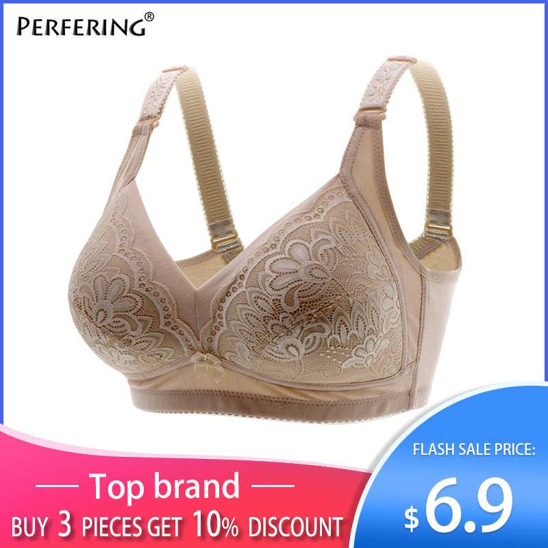 Perfering Full Cup Ren Plus Kích Thước Áo Lót Ngực Áo Push Up Bra Nữ Size Lớn Lớn Femme Quần Lót Không Đệm 40 42 44