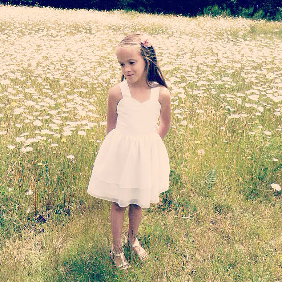 Short Flower Girls Dresses For Wedding Gowns Knee-Length Kids Prom Dresses White Satin Mother Daughter Dresses For Girls Party short flower girls dresses for wedding gowns knee length kids prom dresses lace dress girl tulle mother daughter dresses