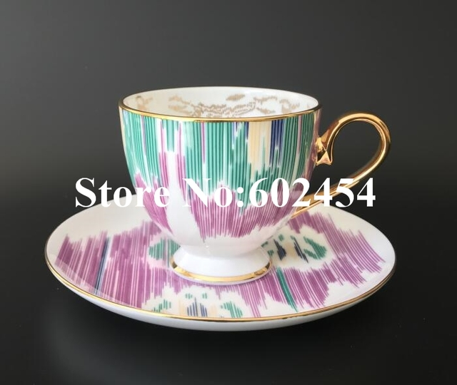 Newest porcelain coffee cup/saucer 300ml tea cup for brithday present