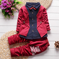 New Boys Clothing Set Autumn Spring Casual Cotton Solid Color Full Sleeve Suit + Pants Children Clothes Baby Kids Clothing Sets