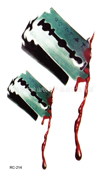 Body Art Beauty Makeup Blood and Blade Waterproof Temporary Tattoo Stickers Sexy