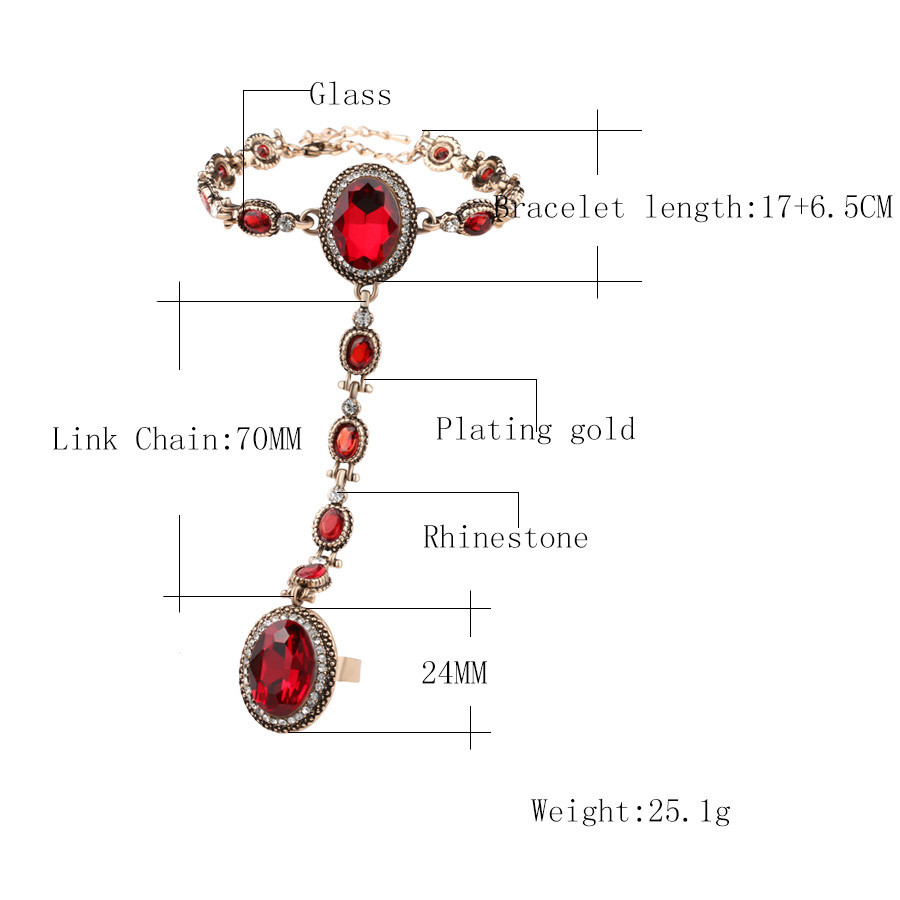New-2017-Red-Glass-Bracelets-For-Women-From-India-Jewelry-Color-Gold-White-Crystal-Oval-Glass (1)