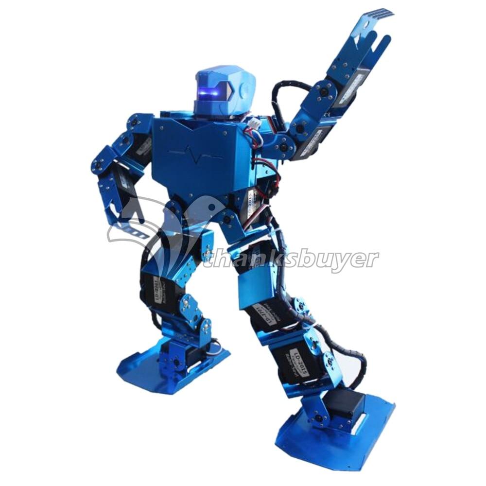 16DOF Robo-Soul H3.0 Biped Robtic Two-Legged Human Robot Aluminum Frame Kit with Helmet Head Hood