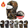 Camo Thermal Fleece Balaclava Winter Warm Ski Neck Hoods Cover Hats Paintball Tactical Cycling Bicycle Motorcycle Full Face Mask