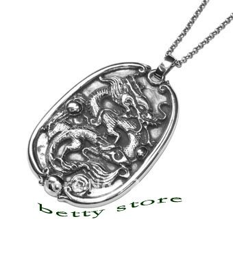 925 pendentif en argent Sterling pour hommes bijoux en argent de chine pendentif Dragon pendentif de Culture chinoise Unique livraison gratuite