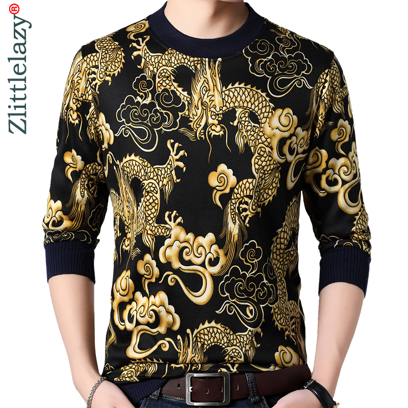 2018 new casual long sleeve   t  -  shirt   streetwear mens tee   shirts   thick winter warm fashion dragon tshirt men   t     shirt   jersey 37003