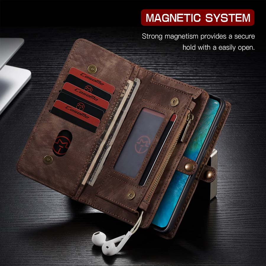 Image 4 - Luxury Genuine Flip Wallet Leather Mobile Phone Back Cove Case for Huawei Mate 20 Pro Mate 20Pro P30 P30 Pro Lite P20 Pro Case-in Wallet Cases from Cellphones & Telecommunications