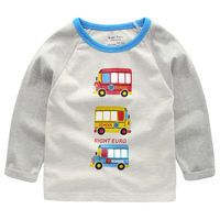 Baby Boy Sweatshirt With Animal Applique 2018 Brand Children Autumn Long Sleeve Tops Boys Clothes Striped