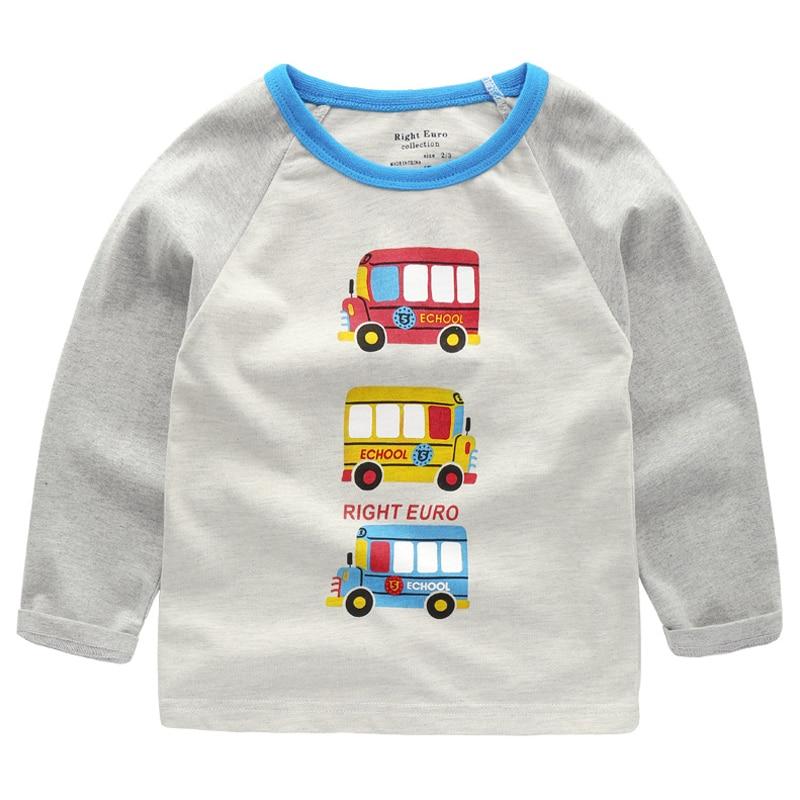 Jungen Sweatshirt mit Tier Applique 2018 Marke Kinder Herbst Langarmshirts Jungen Kleidung Striped Kinder T shirts für junge