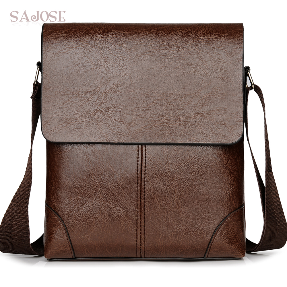 Crossbody Bags for Man's Pu Leather Shoulder Bag Messenger Bags Men Black Travel Casual Business Sacoche Homme Drop shipping