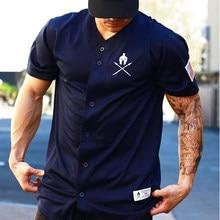3f3f9e568 Men s Baseball Jersey New Arrival Cropped Tee Men T-shirts Short Sleeve  Tshirt Sportswear(