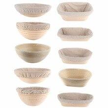 Cesta de mimbre de fermentación de varias formas, cestas de masa de barra de pan de campo, cestas de masa para hornear, cesta de almacenamiento para hornear