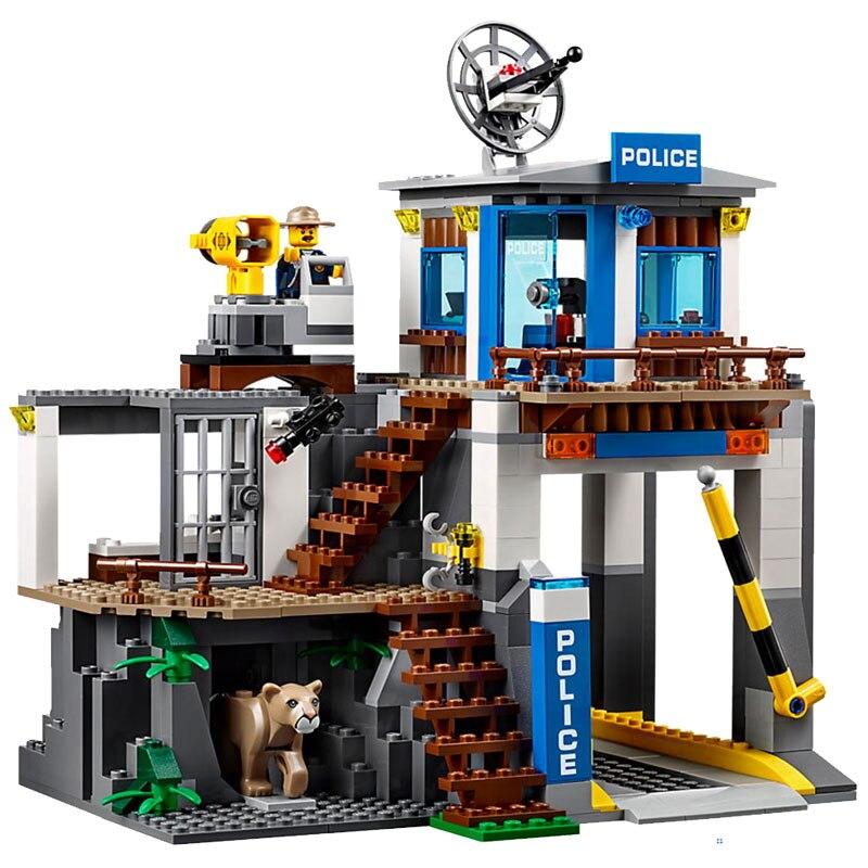 Lepin 02097 742Pcs City Mountain Police Headquarters Set Building Blocks Bricks Model Toys Compatible LegoINGlys 60174 конструктор lepin city полицейский участок в горах 742 дет 02097