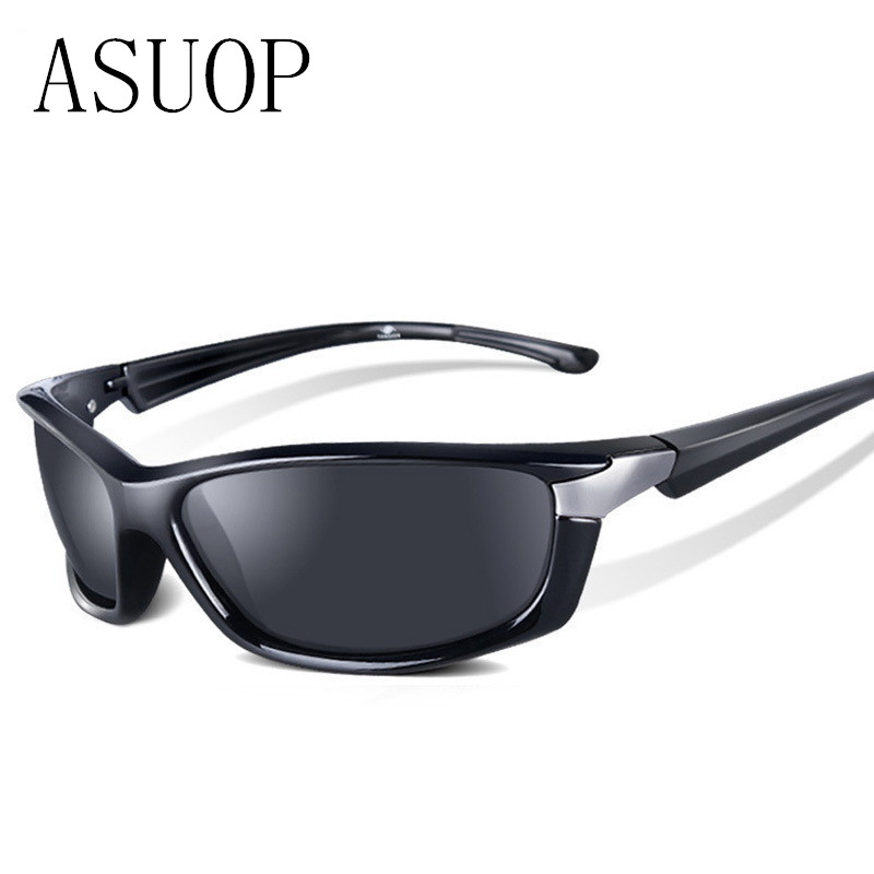 ASUOP2019 جديد أزياء الرجال النظارات الشمسية المستقطبة العلامة التجارية الكلاسيكية تصميم ساحة السيدات النظارات الشمسية UV400 الرجعية القيادة نظارات سوداء