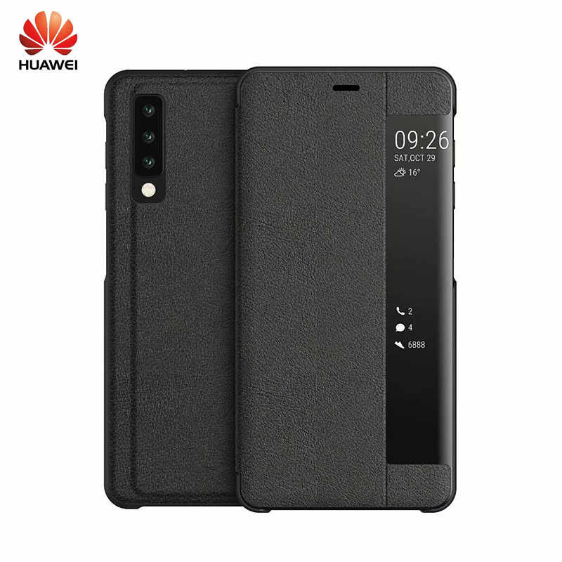 Huawei Case window bracket smart leather case flip cover smart protective cover For Huawei Mate 20 X 10 9 Pro P10 p30 P20 Nova 3