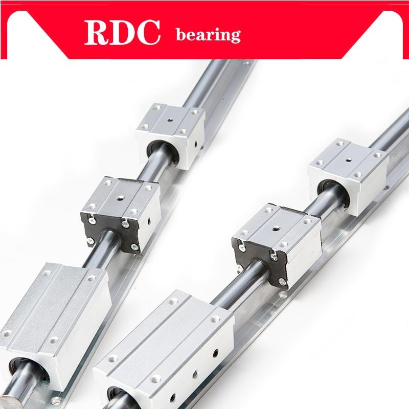 New 2 Pieces SBR25-1000mm Support Linear Rail 4 SBR25UU Bearing Blocks