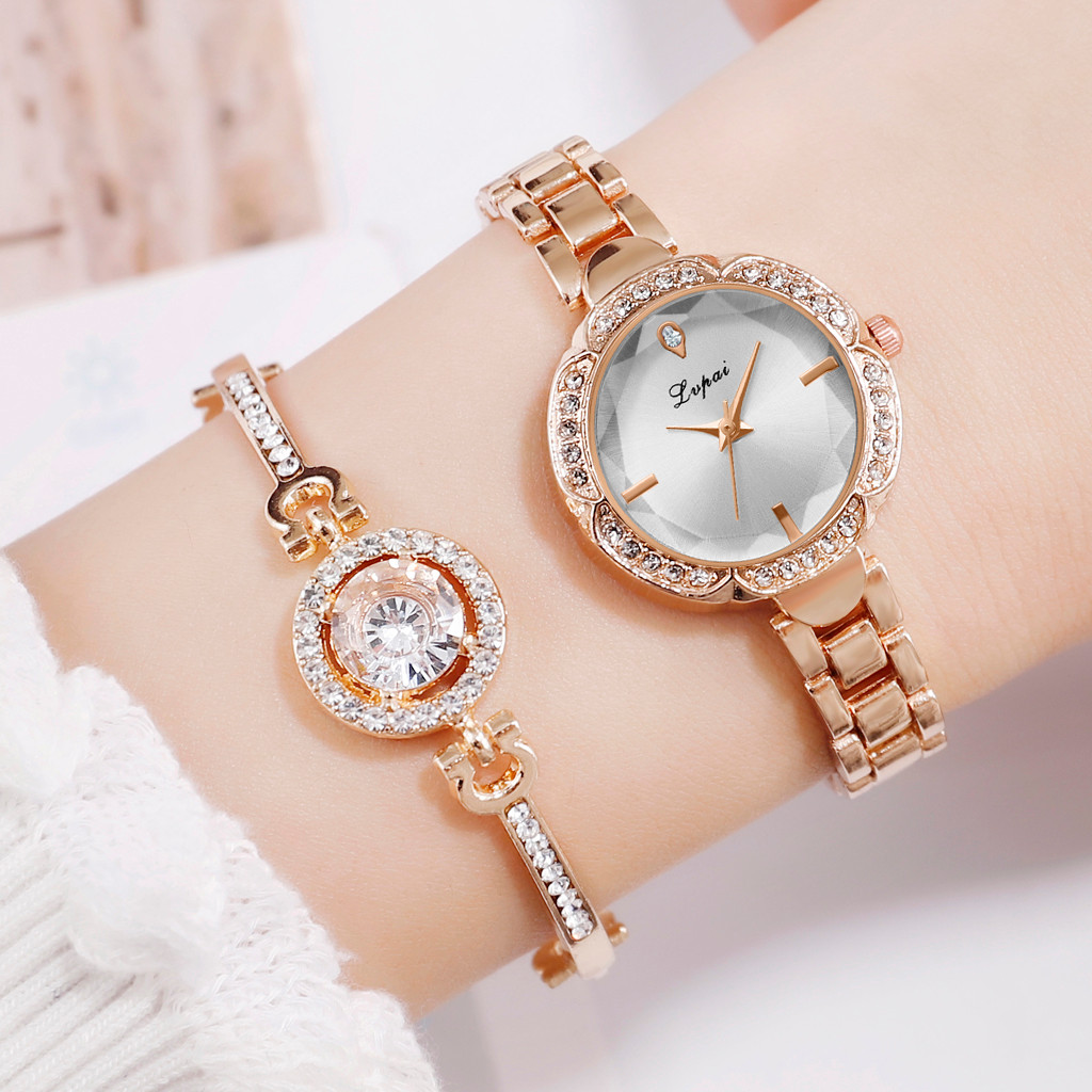 Simple Casual Small European Bracelet Watch ladies women Wrist watches gifts Wrist Party decoration Dress watch rose gold watch(China)