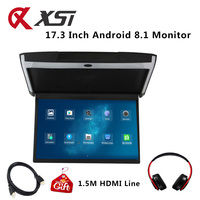 XST 17.3 Inch Android 8.1 Car Monitor Ceiling Mount Roof HD 1080P Video IPS Screen WIFI/HDMI/USB/SD/FM/Bluetooth/Speaker