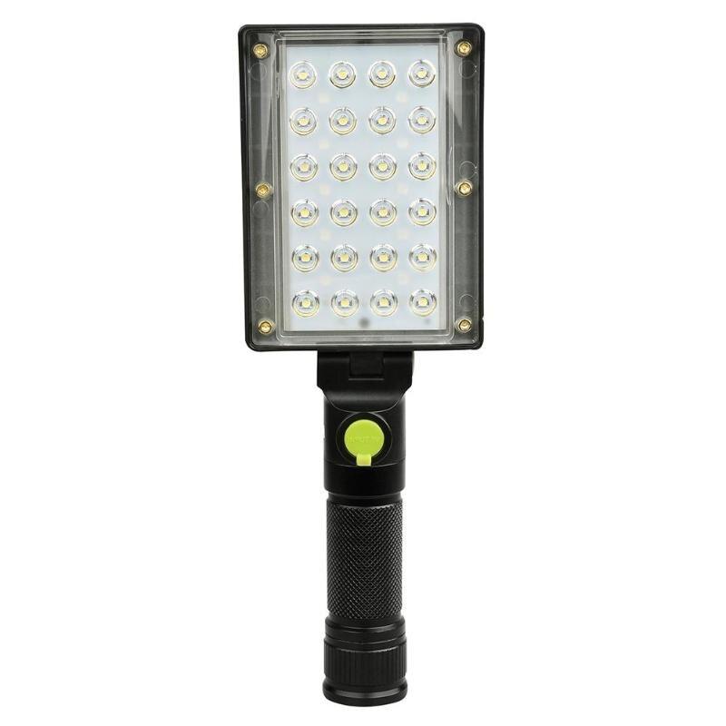 Portable 24COB+18 LED Work Light 4 Mode Inspection USB Portable Working Lantern Warning Light 4 Mode Inspection Lamp Worklight