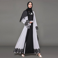 Abaya Muslim Dress Islamic Arabic Abayas Vestidos Pakistani Moslim Jurken Indonesia Open Long Dresses Women 2018 Plus Size