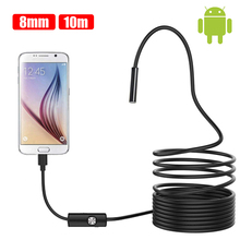 8MM 720p OTG Android Endoscope Camera 1M 2M 5M 10M Video Endoscope Borescope Inspection Camera Windows USB Endoscope for Car 9mm 2in1 5m mini usb endoscope otg car 6 led borescope inspection security cctv android camera 2 0mp hd micro waterproof camera