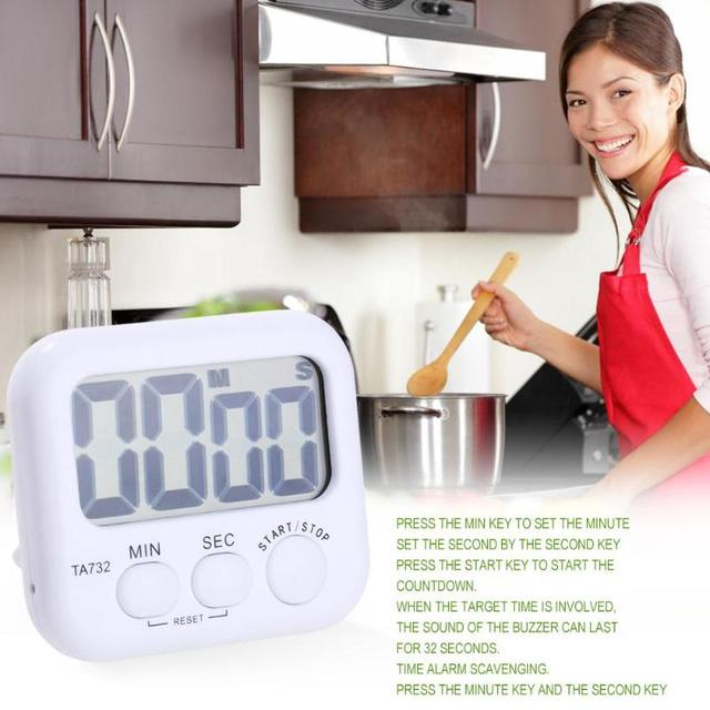 US $3 01 45% OFF|2018 Universal Digital Timer Count Down Up Clock Loud  Electronic Magnetic Large LCD Clock Alarm For Kitchen Cooking Tool  Timers-in