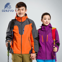 DZRZVD hiking Jackets men and women couple outdoor clothing waterproof warm two - piece suit