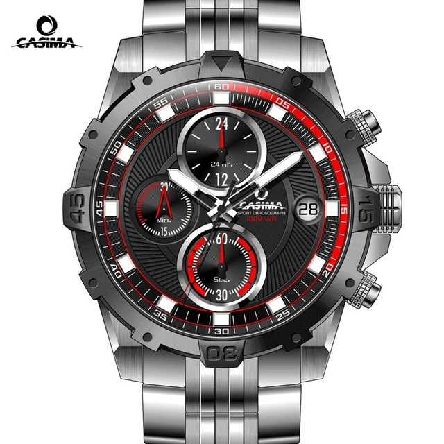 CASIMA Brand Men Watch reloj hombre Luminous Sport Multi-Function Quartz Watch Men montre homme Waterproof 100m erkek kol saati luxury brand casima men watch reloj hombre military sport quartz wristwatch waterproof watches men reloj hombre relogio